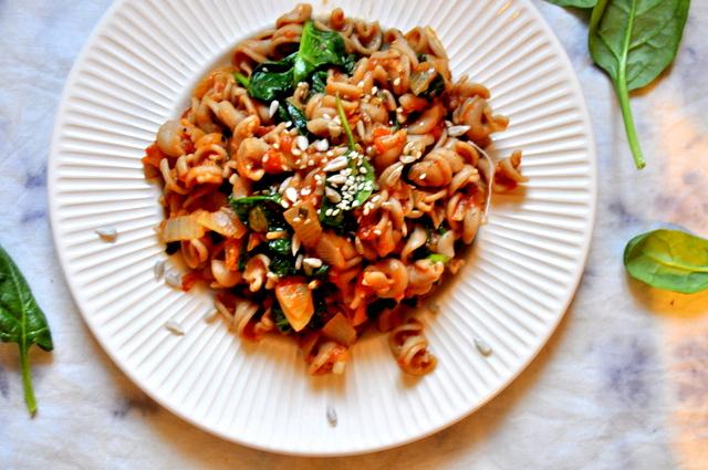 Zdravé recepty: Žitné cestoviny so špenátom