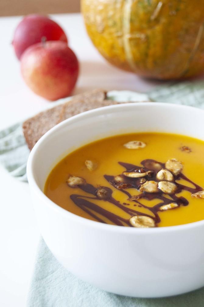 Hokkaido krémová polévka s pomerančem