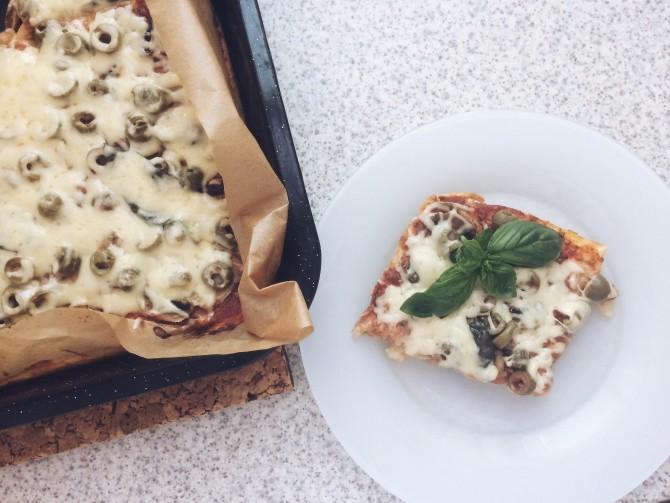 Cuketová pizza