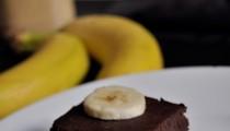 Fazolové brownies s banánem