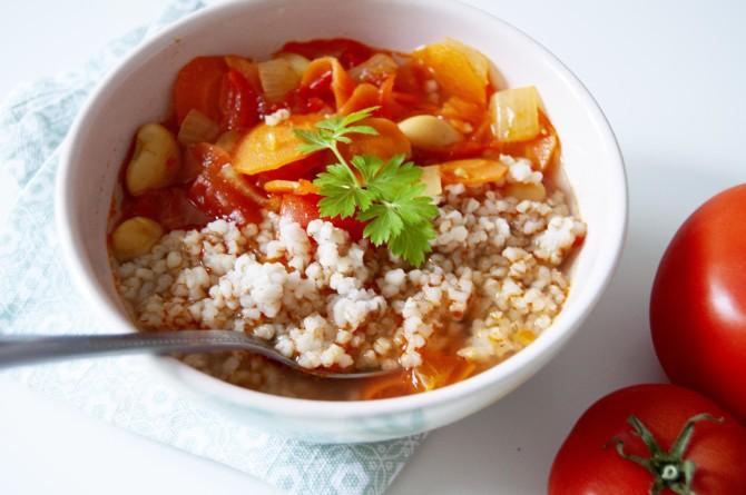 Zeleninová polévka Minestrone s kroupami