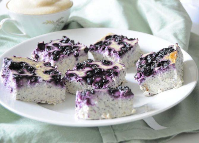 Zdravý tvarohový koláč bez cukru